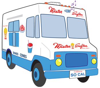 Image result for mister softee ice cream truck clip art