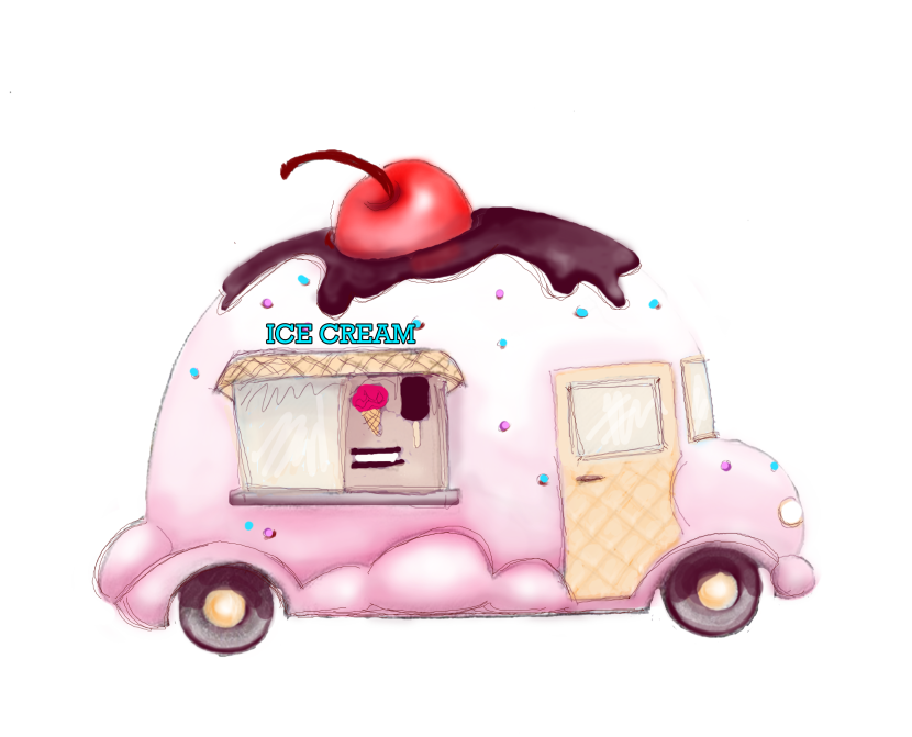 Best Ice Cream Truck Clip Art 24477 Clipartion Com