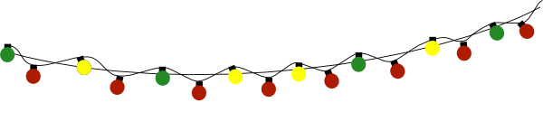 Images String Of Christmas Lights Clipart Png