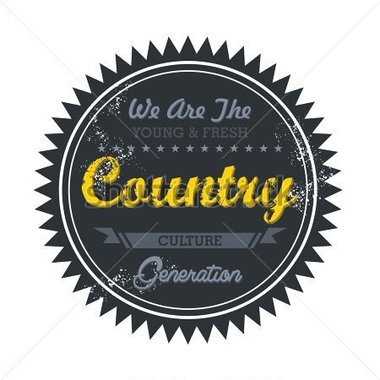 Label Vintage For Country Music Genre Stock Vector Clipart Me