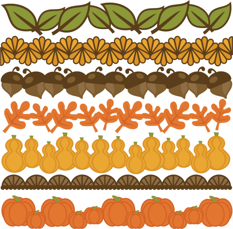Large Thanksgiving Borders Png
