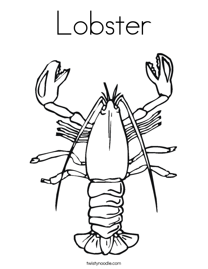 Lobster Coloring Page Lobster Outline