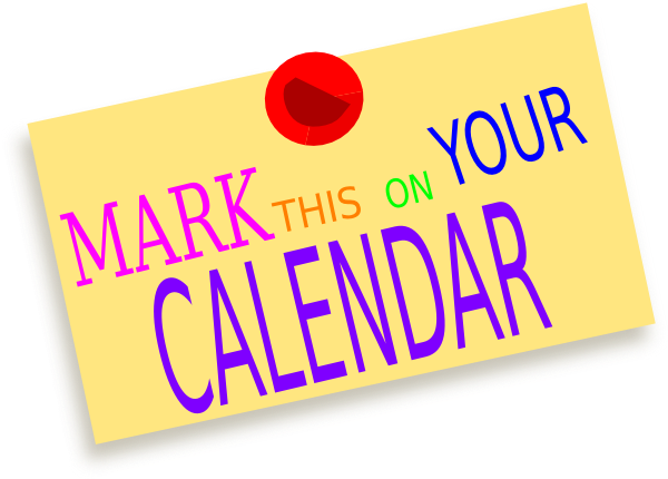 Image result for clip art for mark your calendar