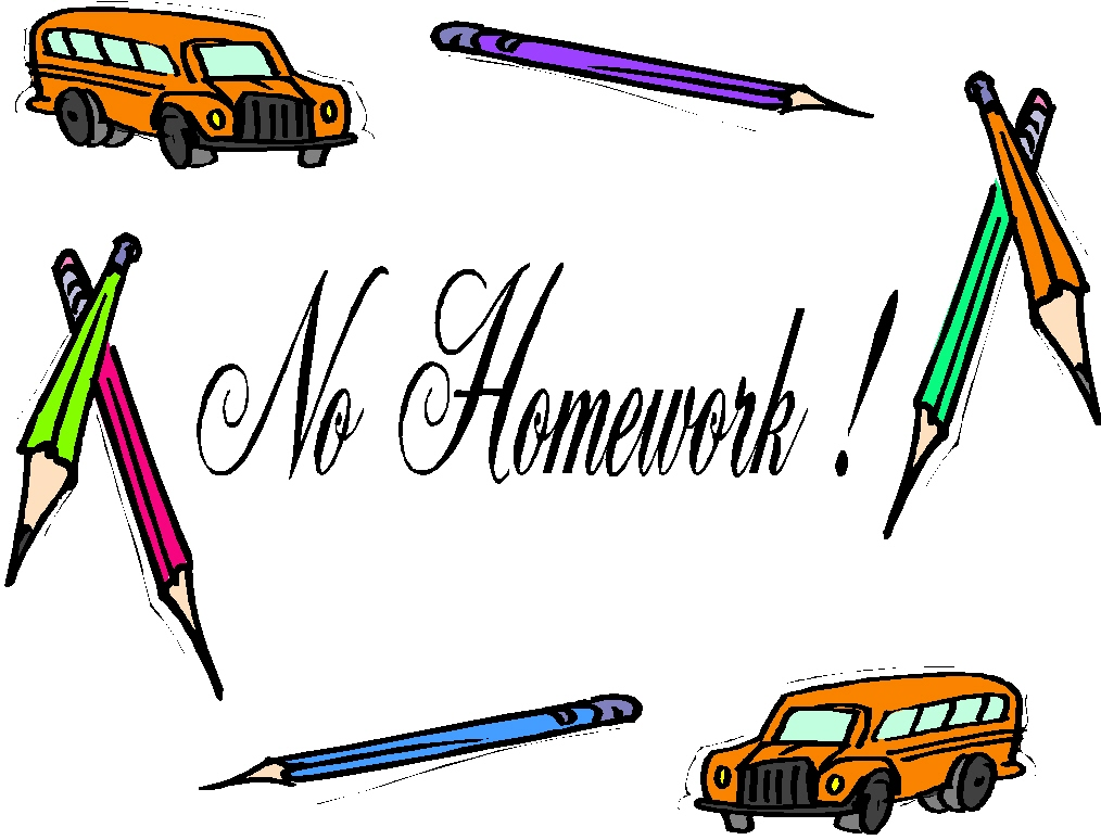 No Homework Clipart