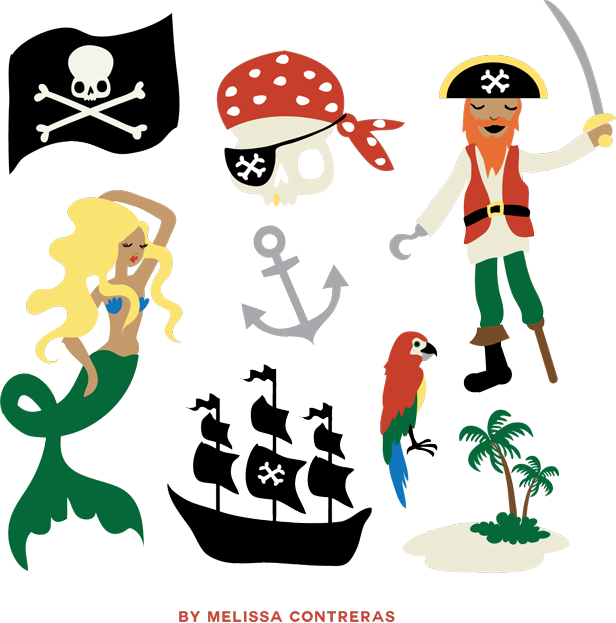 Pirate Clip Art Free Gift From Melissa Contreras