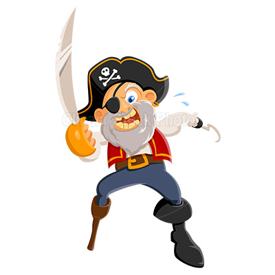 Pirate Clip Art Graphic Free Cartoon Pirate