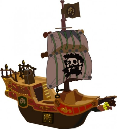 Pirate Ship Clip Art Free Vector In Open Office Drawing