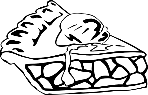 Pizza Clipart Black And White Free