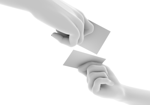 Pose Of The Hand Exchange Business Cards Free Illustration