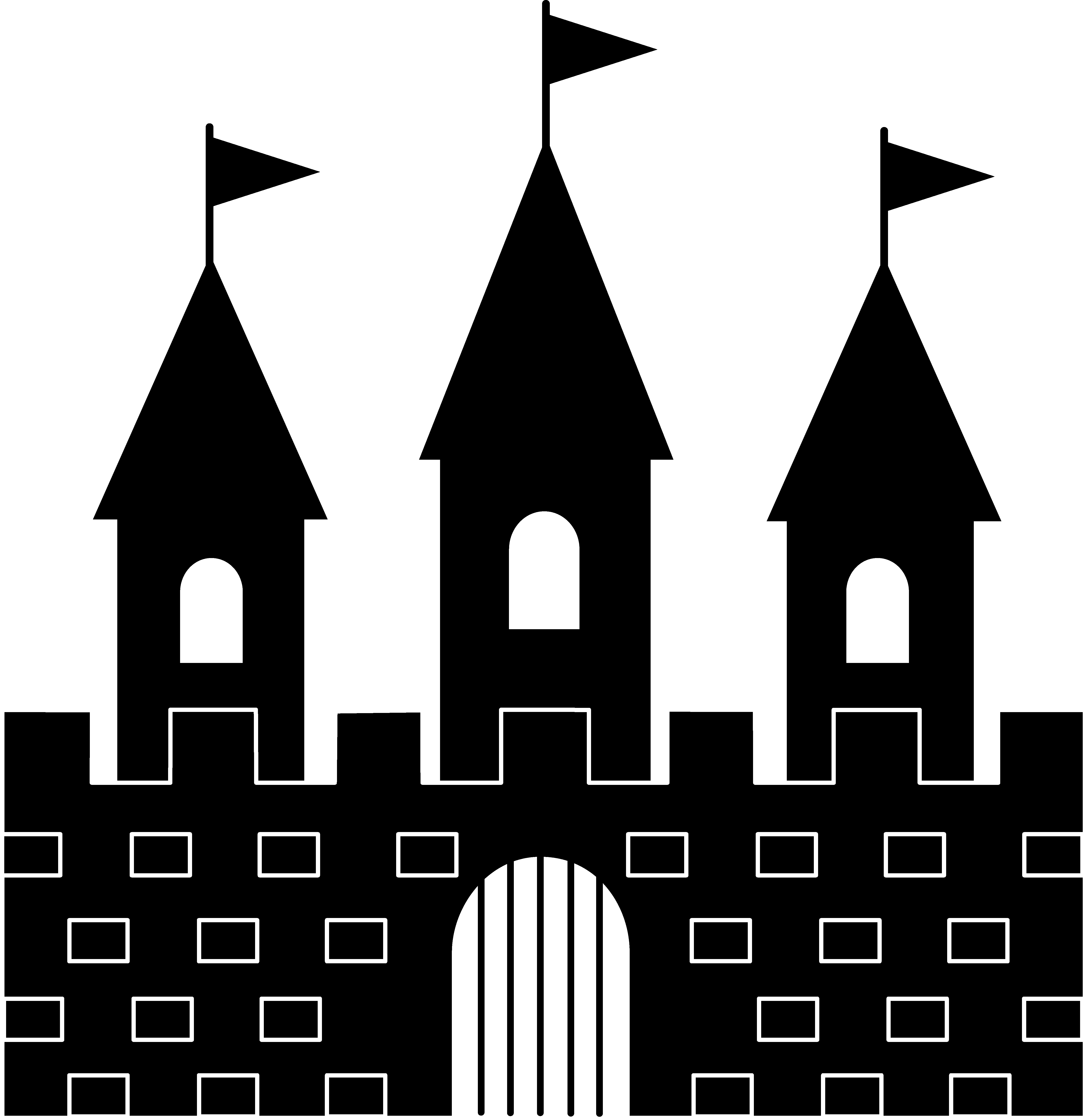 Princess Castle Clipart Black And White Free