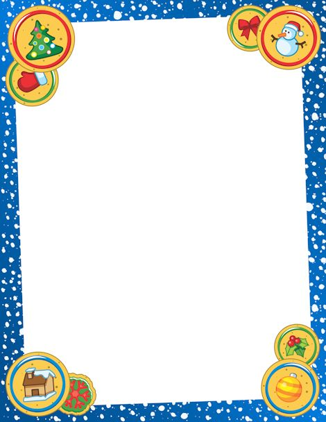 Printable Christmas Cookie Border Free Pdf And Png