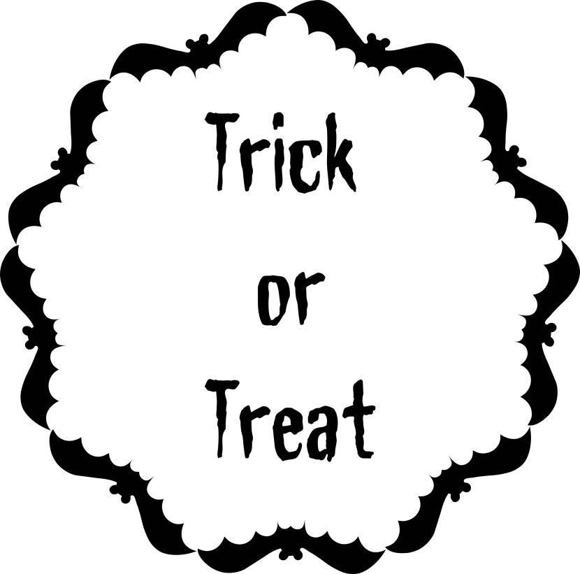 Printable Halloween Trick Or Treat Text And Frames