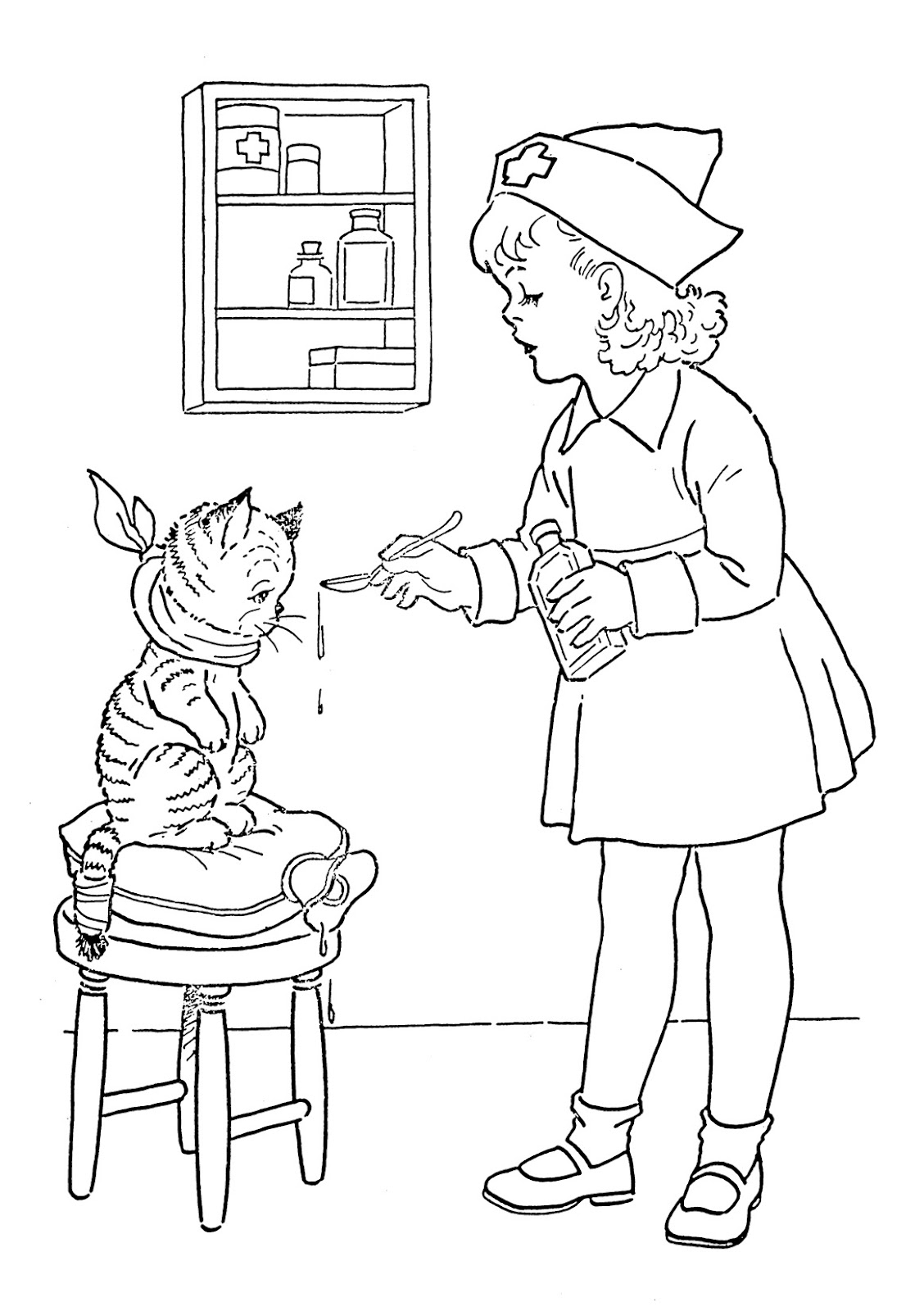 Coloring pages 7 year olds - Printable Nursing Coloring Pages 7 Coloringspace Com