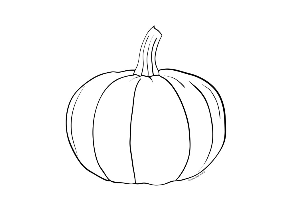 Printable Pumpkin Outline Az Coloring Pages