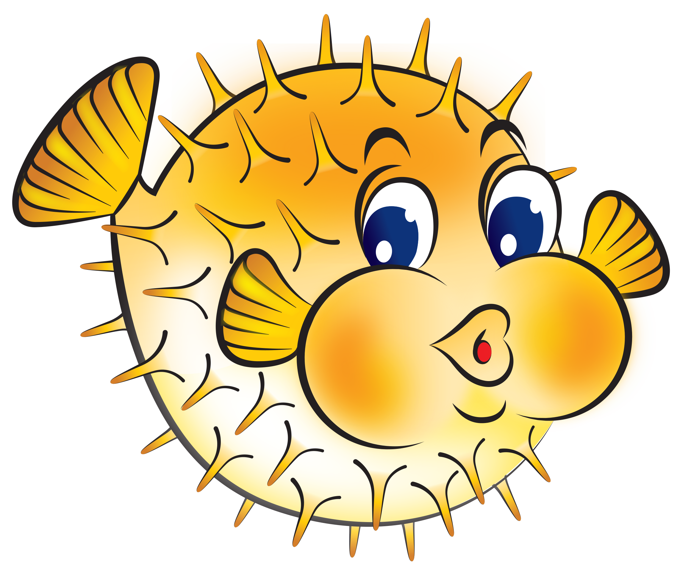Best puffer fish clip art 24200 for Fish clipart images