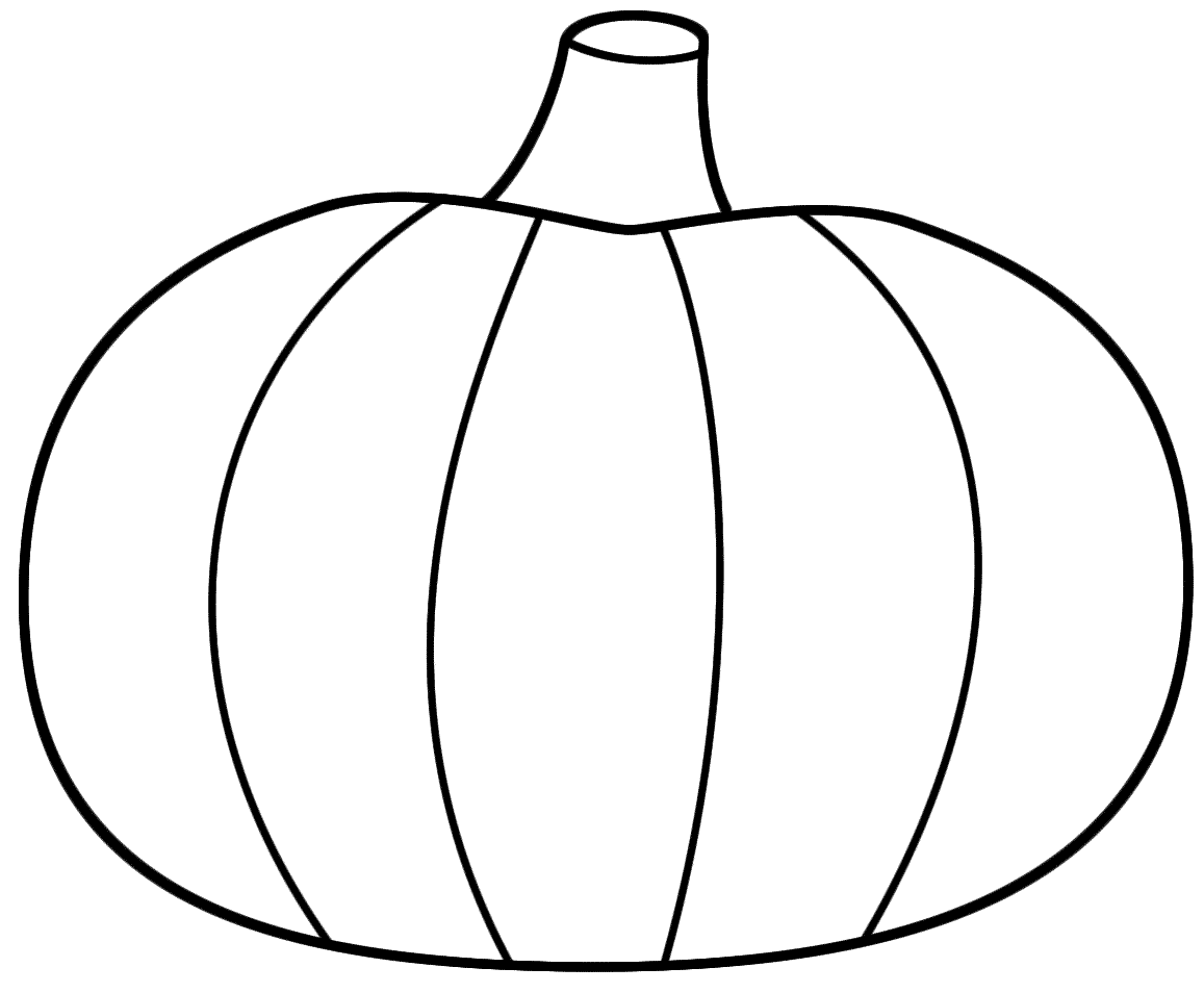 Best pumpkin outline printable 22943 for Preschool pumpkin coloring pages