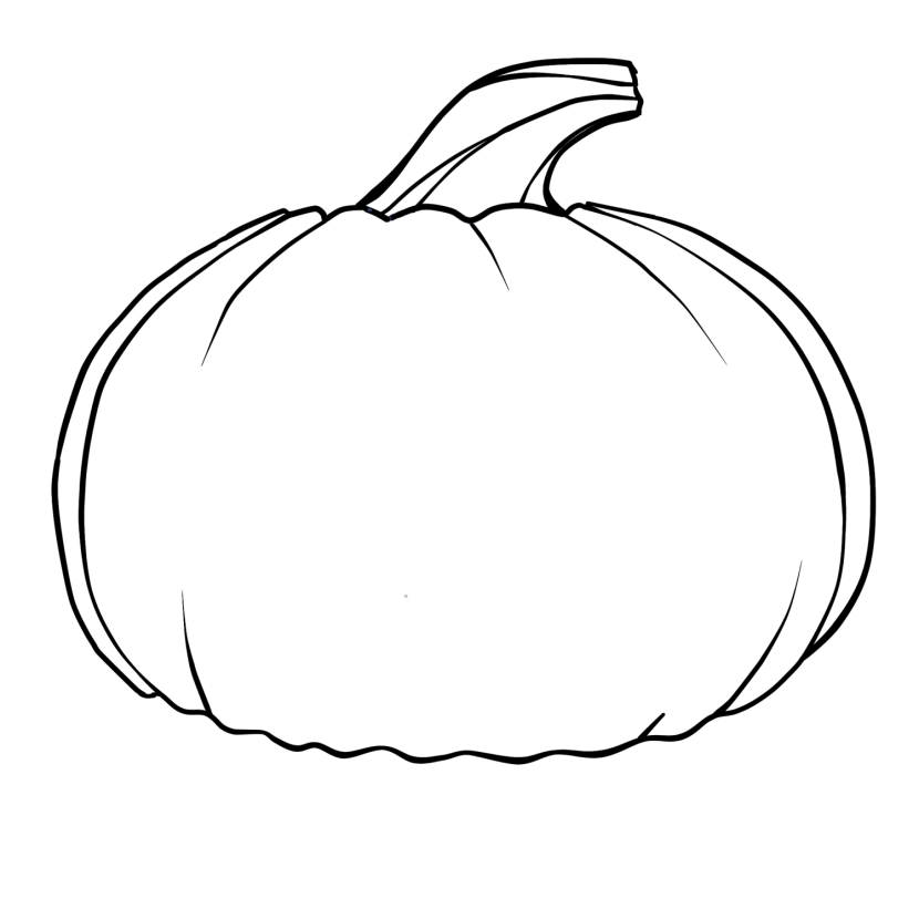 Pumpkin Outline Printable Free