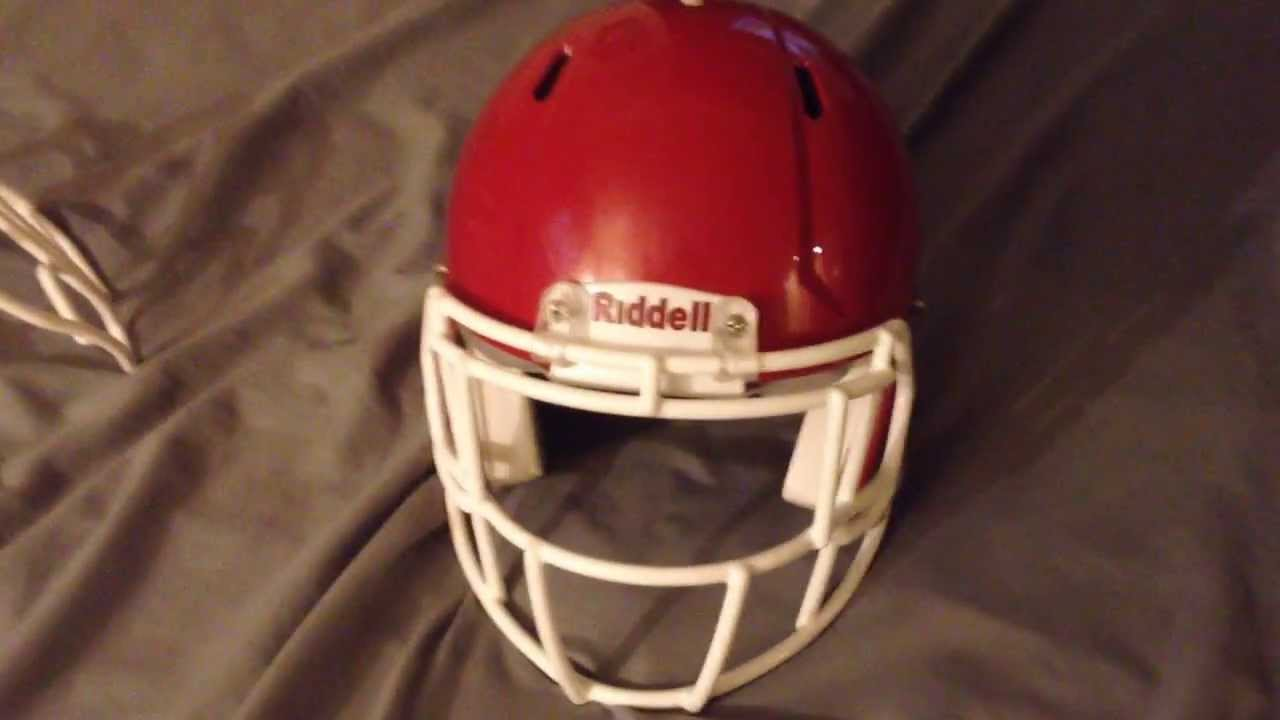 Riddell Revolution Speed With S2eg Sw Sp Facemask Youtube