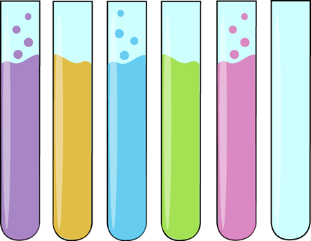 Row Of Science Test Tubes Clip Art Row Of Science Test Tubes