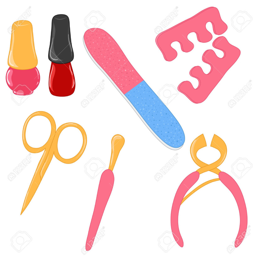 Set Of Manicure Tools Free Cliparts Vectors And Stock