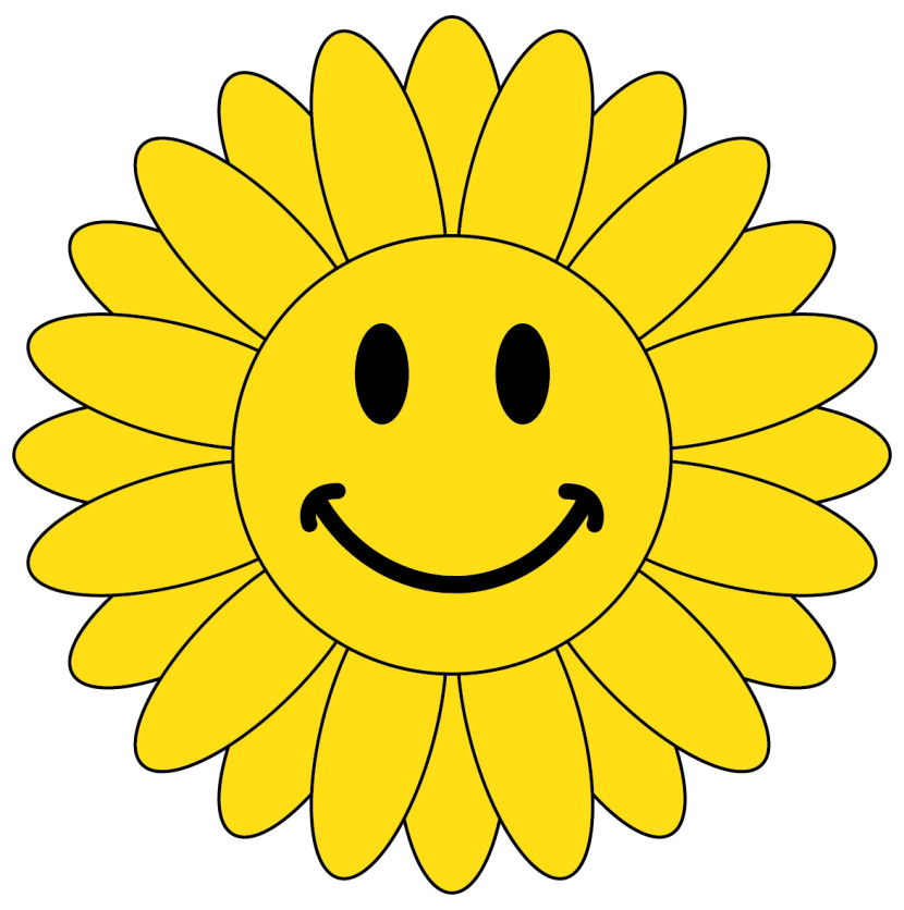 Smiley Face Flower Clipart Free