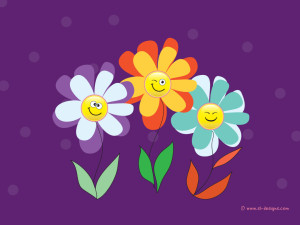 Smiley Flowers Wallpaper Background