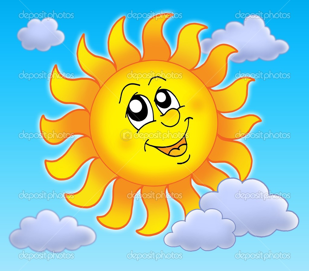 Smiling Sun On Blue Sky Clairev 7