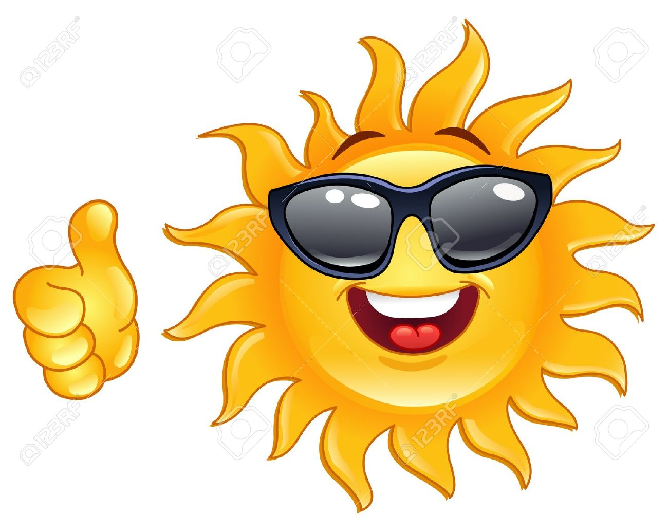 Smiling Sun Showing Thumb Up Free Cliparts Vectors And