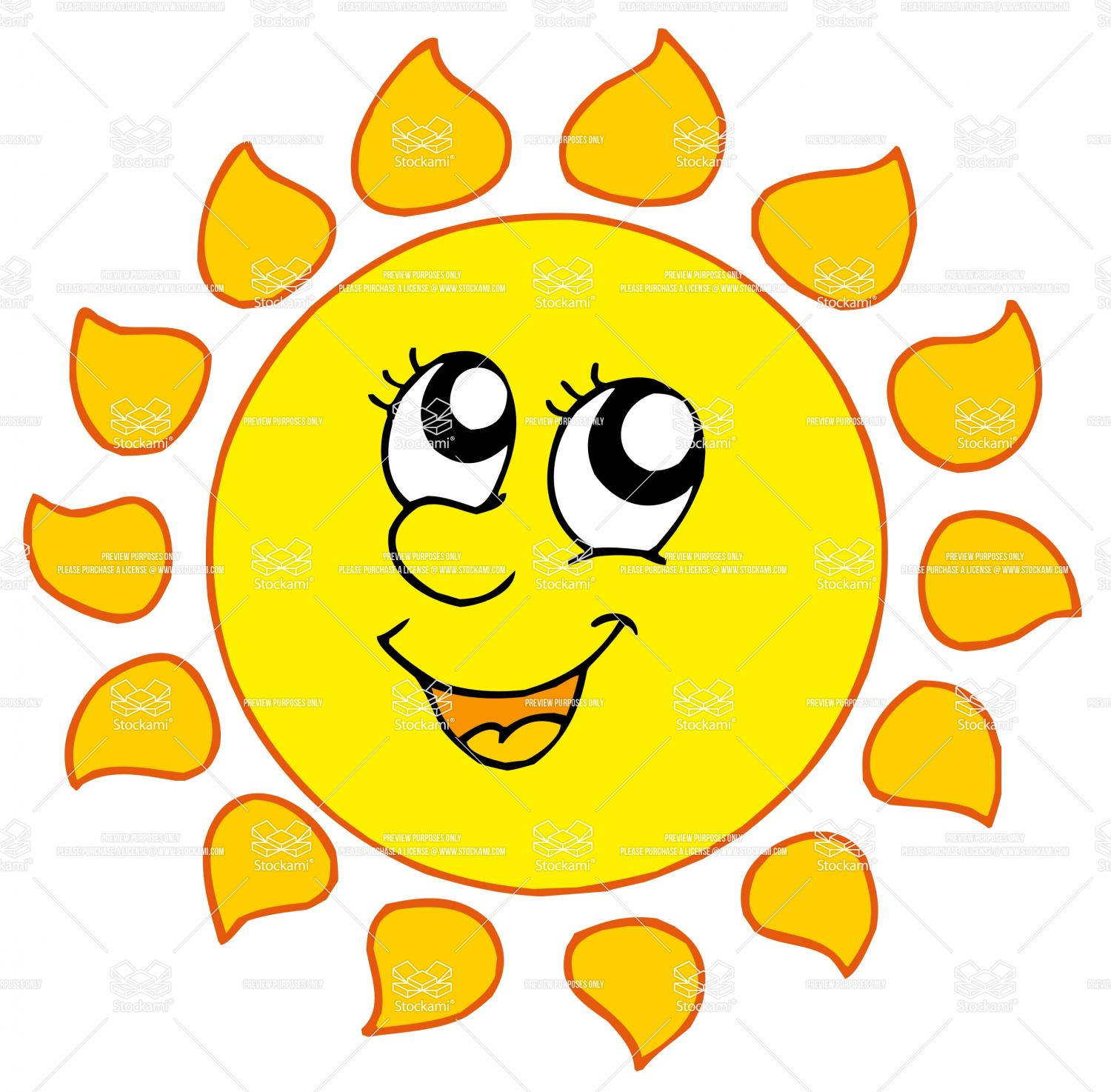 Smiling Sun With Sunglasses Free
