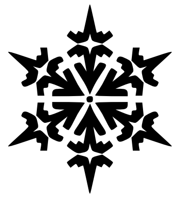 Snowflake Clipart Black And White Free Clipart