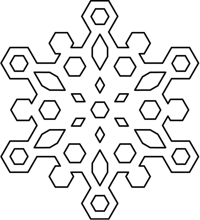 Best Black And White Snowflake #24380 - Clipartion.com