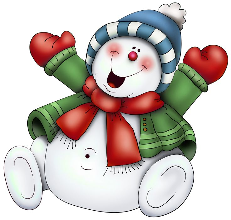 Snowman With Scarf Png Clipart Use On Transparencies Inside Clear