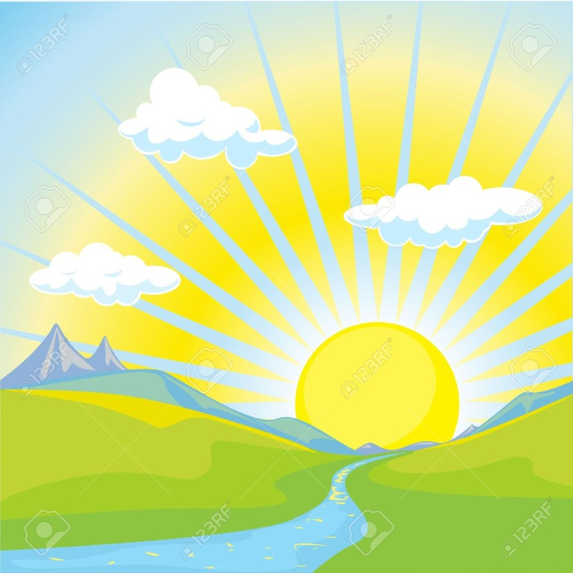 Sunny Landscape Background Free Cliparts Vectors And