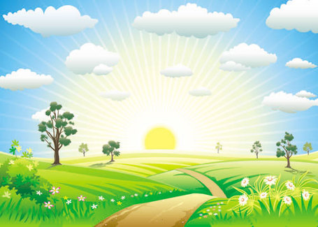 Sunrise Clip Art Vector Sunrise Graphics Clipart Me