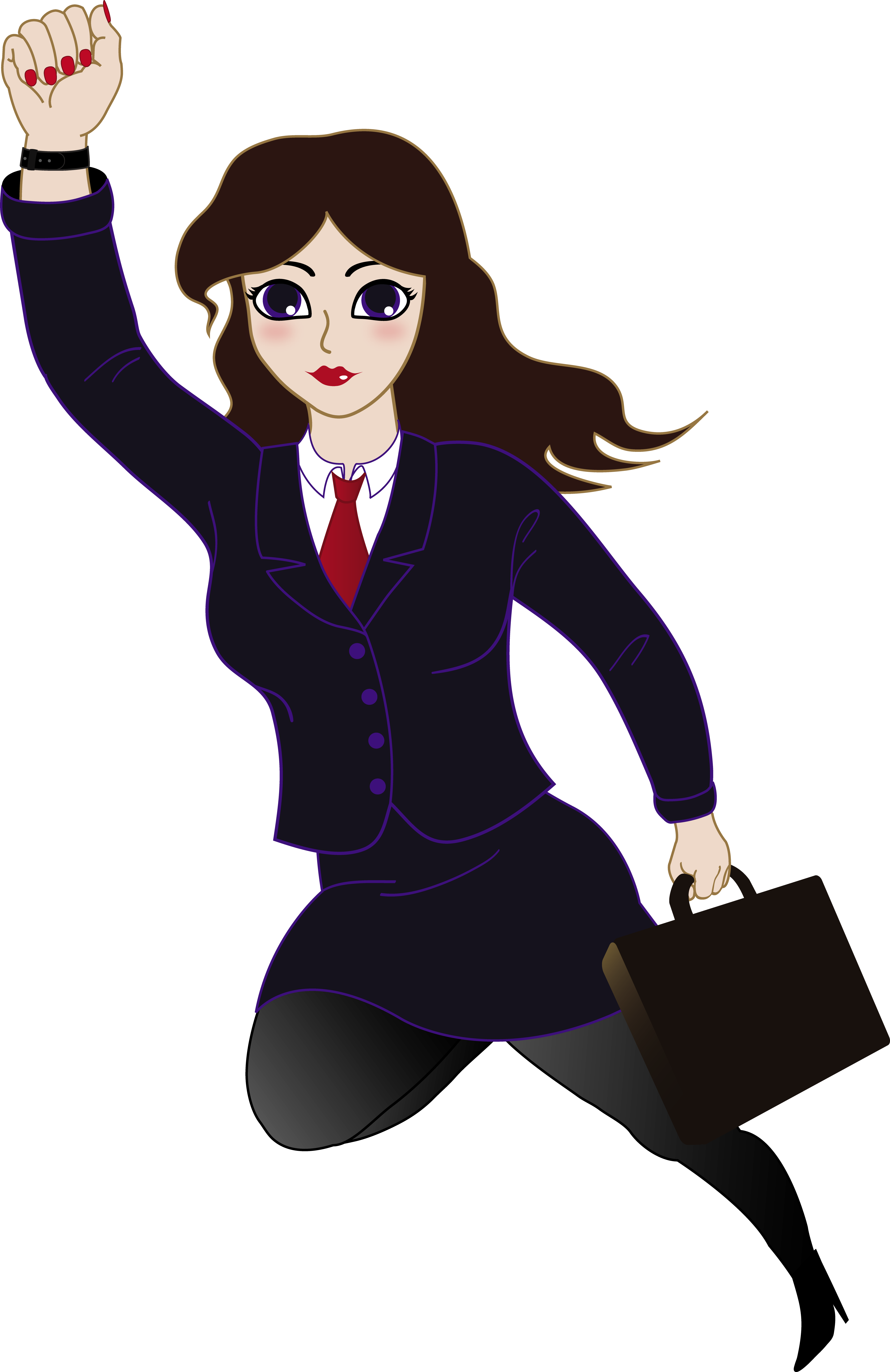 Super Business Woman Free Clip Art