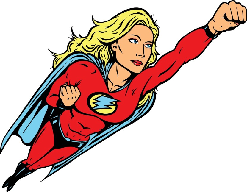 Super Woman Cartoon Superwoman Clipart