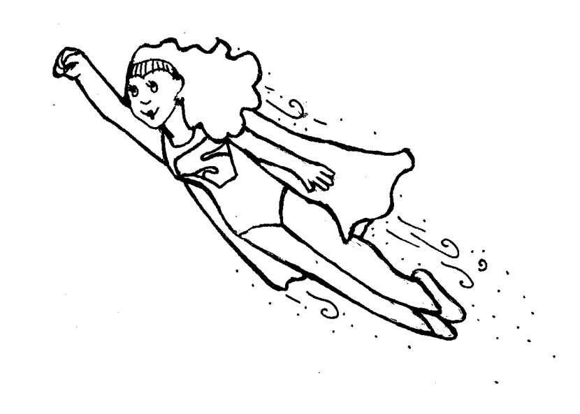 superwoman coloring page - superwoman clipart