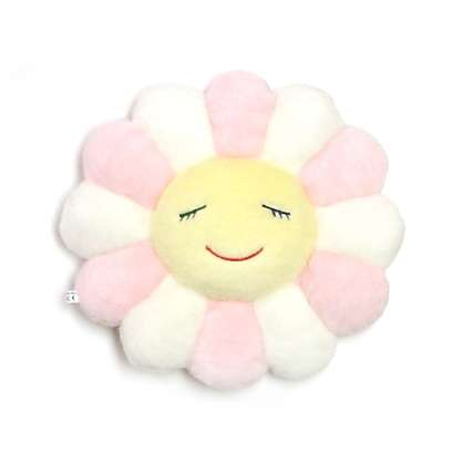 Takashi Murakami Mini Flower Cushion Light Pink Giant Robot