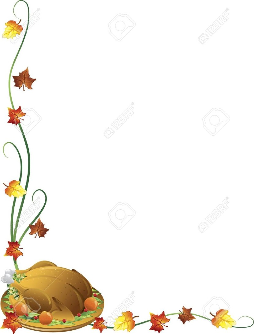 Thanksgiving Border Images Stock Free
