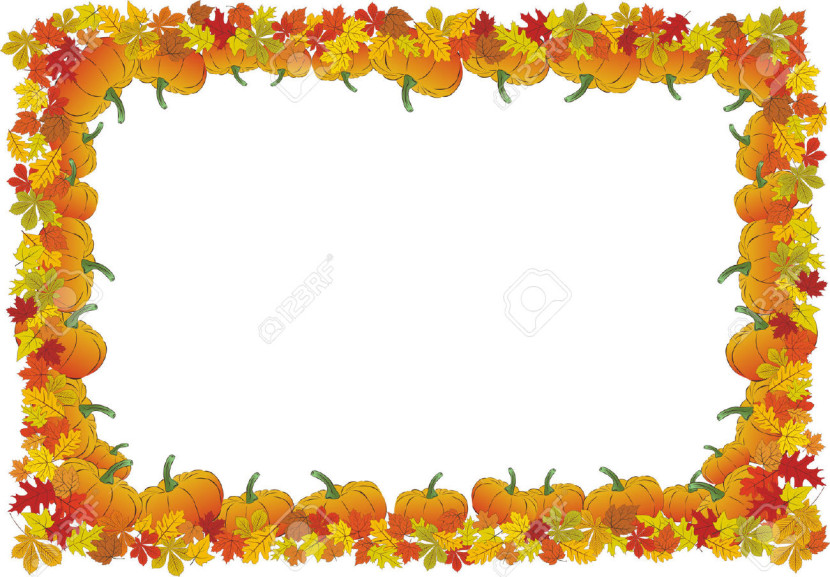 Thanksgiving Day Autumnal Vector Frame Free Cliparts
