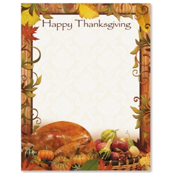 Thanksgiving Dinner Border Paper Paperdirect