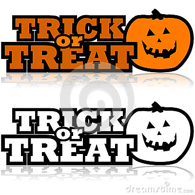 Trick Or Treat Stock Vector Image