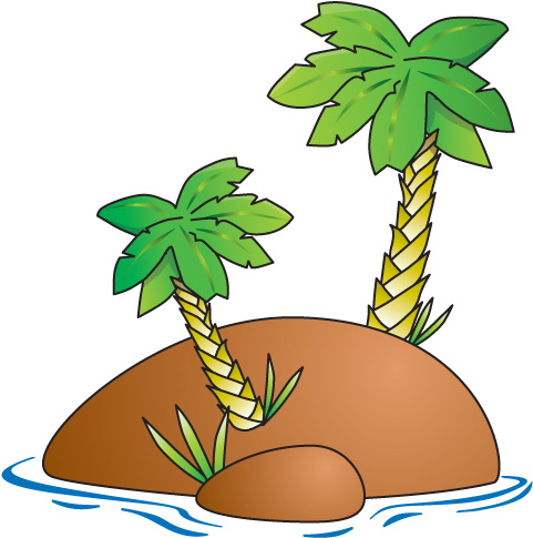 Tropical Island Clipart Free