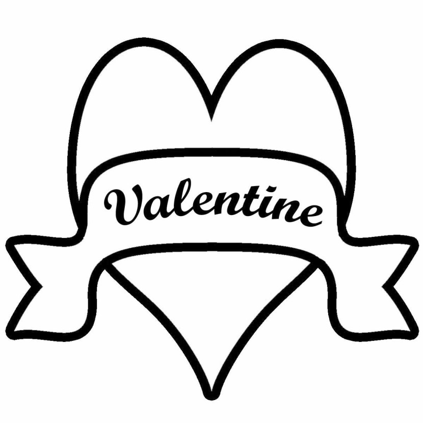 Valentines Day 5 Clip Art Crafts Coloring Pages Printable
