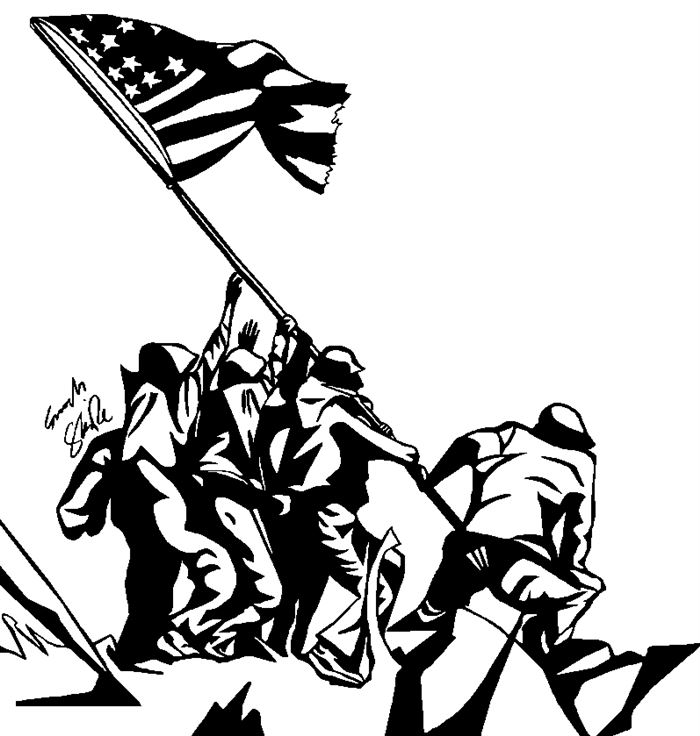 Veterans Day Clip Art Black And White 3