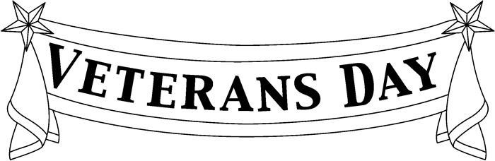 Veterans Day Clip Art Black And White