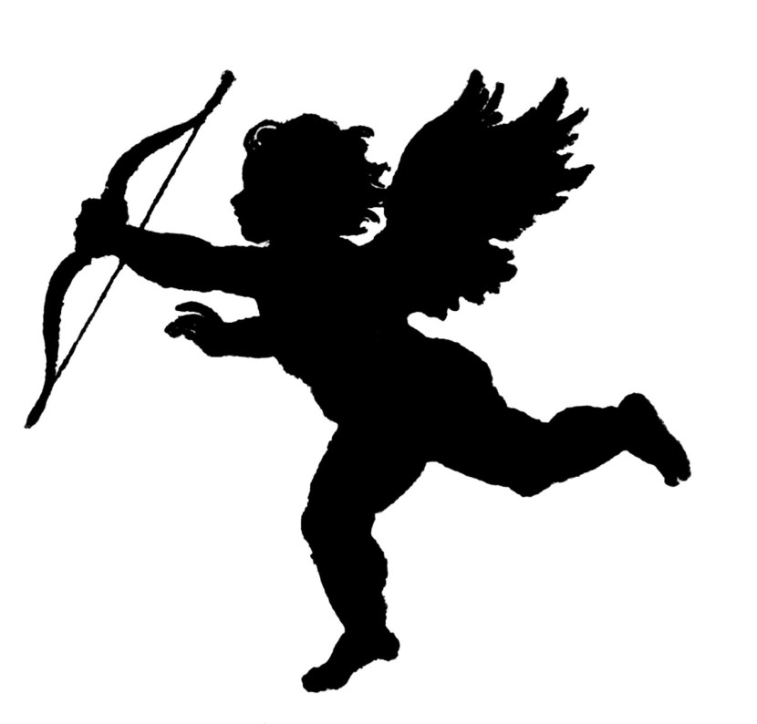 Vintage Clip Art Poems Of Love Silhouette Cupid The Graphics