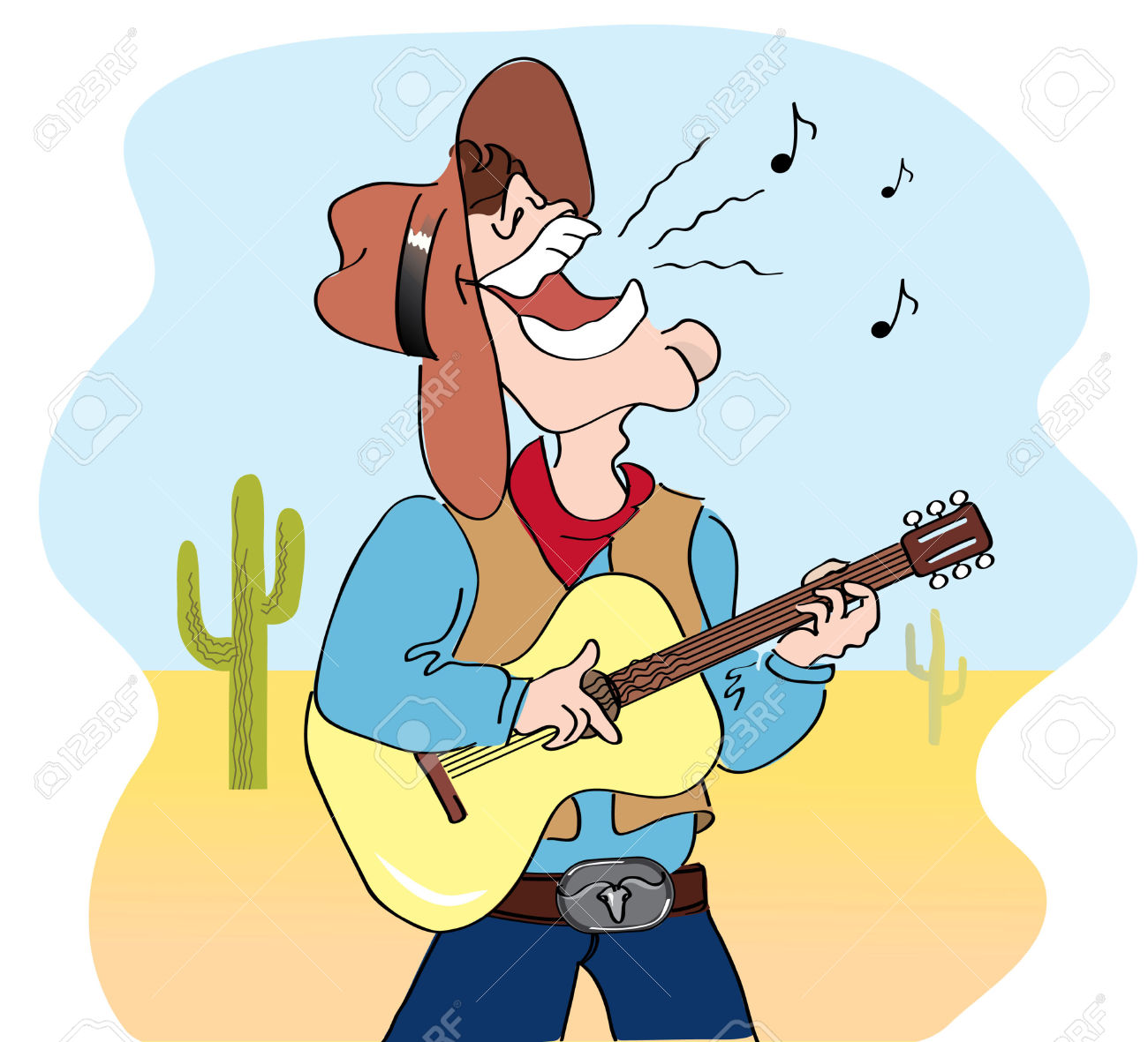 Western Music Stock Vector Illustration And Free Western