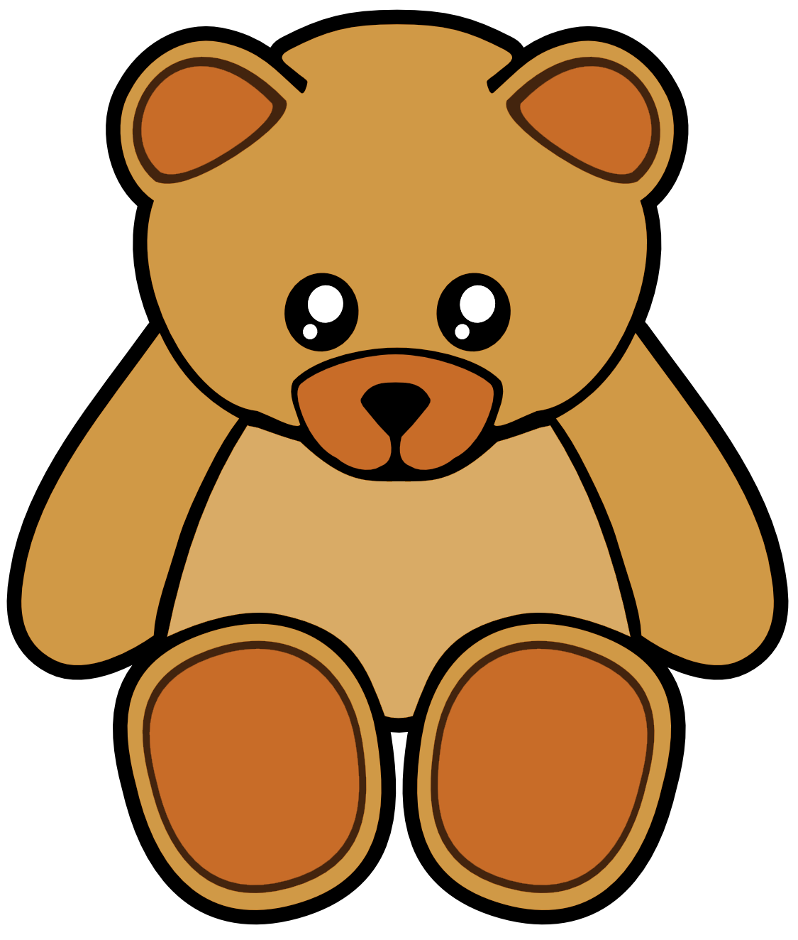 Brown Cute Teddy Bear Free Images At Vector Clip Art