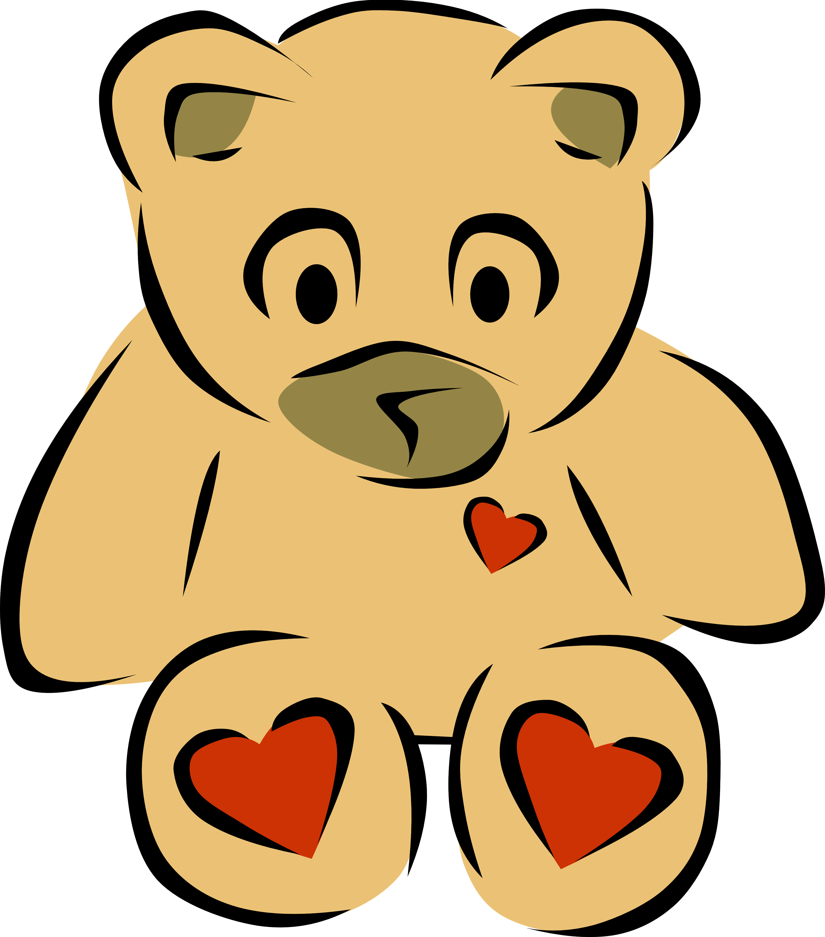 Clip Art Bear Heart 2 Christmas Xmas Teddy Bear